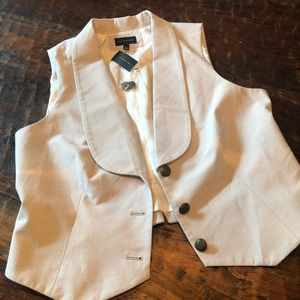 The Limited grey and cream shawl lapel vest